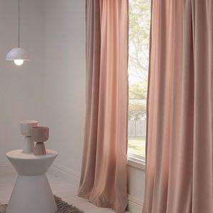 Velvet Curtains 2 Panels Light Dusty Pink 52x84